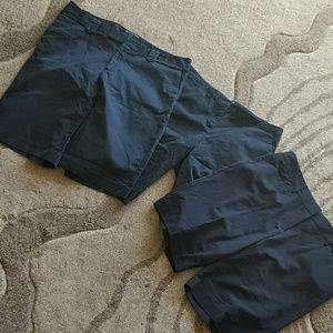 Lot of 3 black shorts size 12 NY&co daisy Fuentes